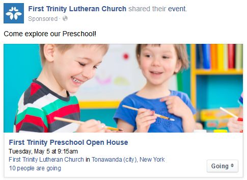 Preschool Facebook Ad 2